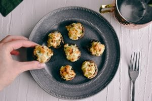 Shrimp Stuffed Mushrooms | Simply Nourished Home