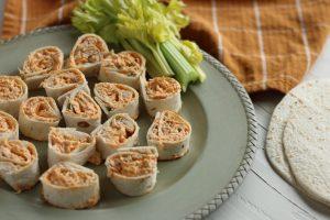 Buffalo Chicken Pinwheels | Simply Nourished Home