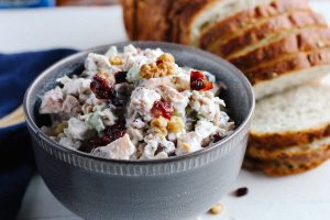 Walnut cranberry chicken salad | Simply Nourished Home